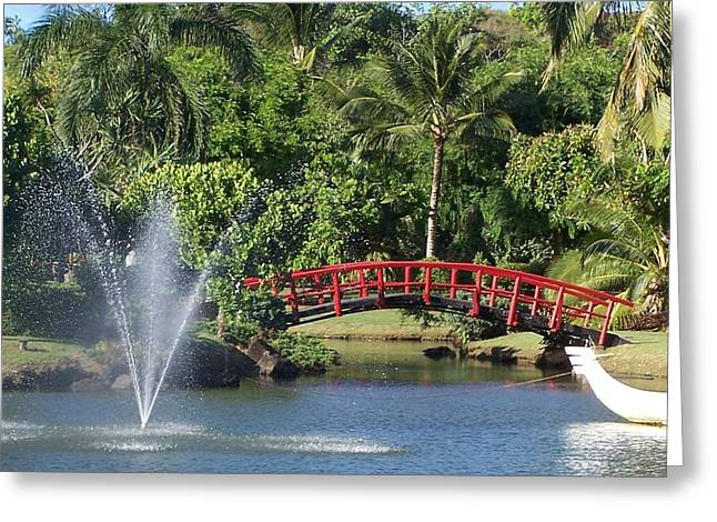 Bridge Over Water Greeting Card by Dianne Stopponi