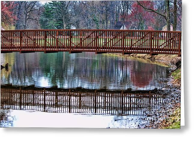 Bridge Over Water Greeting Card by Paul Ward