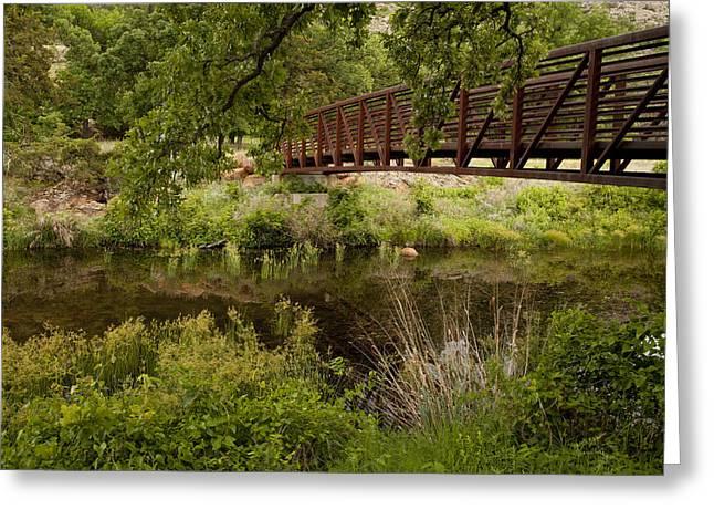 Bridge Over Wetlands Greeting Card