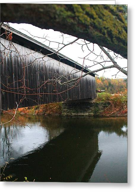 Greeting Card featuring the photograph Bridge Reflection by Alicia Knust