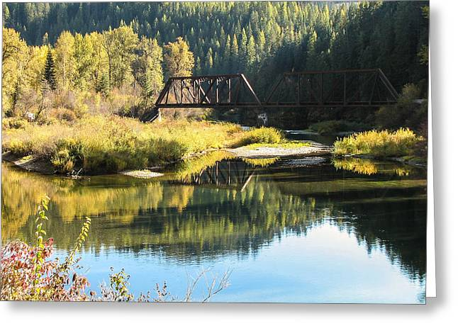 Bridge Reflections Greeting Card by Curtis Stein