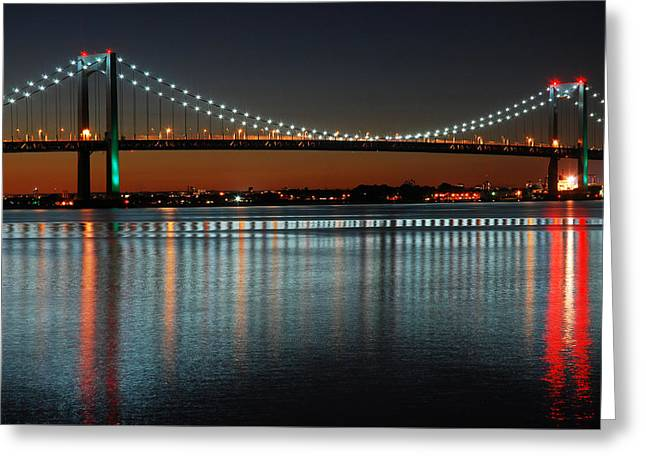 Suspended Reflections Greeting Card by James Kirkikis