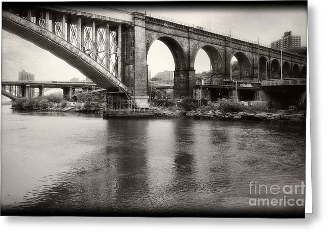 Greeting Card featuring the photograph Bridge Reflections by Paul Cammarata