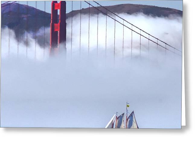 Bridge Sailing Greeting Card