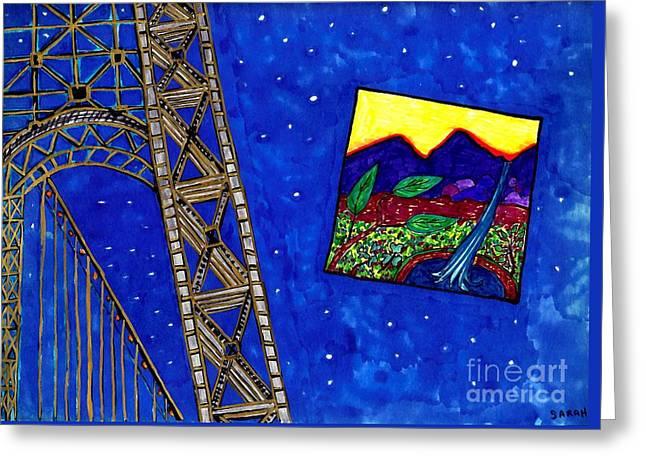 Bridge Greeting Card by Sarah Loft