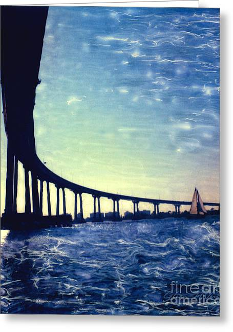 Bridge Shadow - Vertical Greeting Card