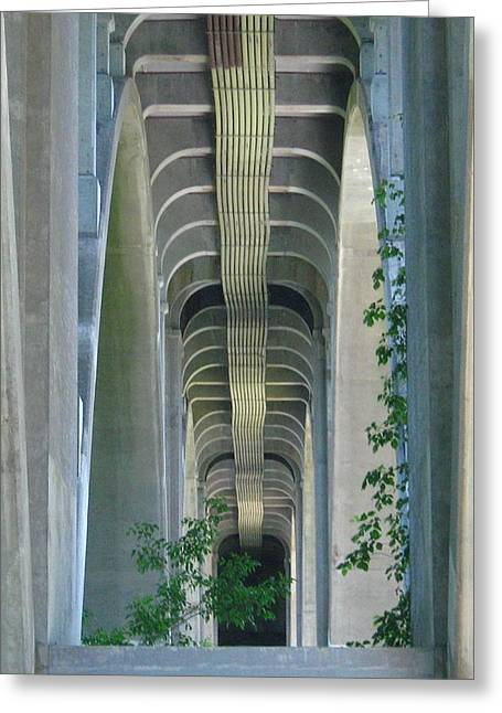 Greeting Card featuring the photograph Bridge Spine by Bruce Carpenter