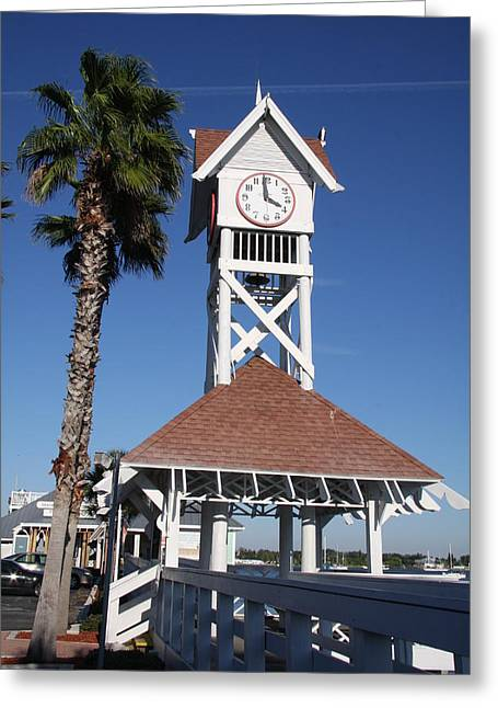 Bridge Street Pier And Clocktower  Greeting Card by Christiane Schulze Art And Photography