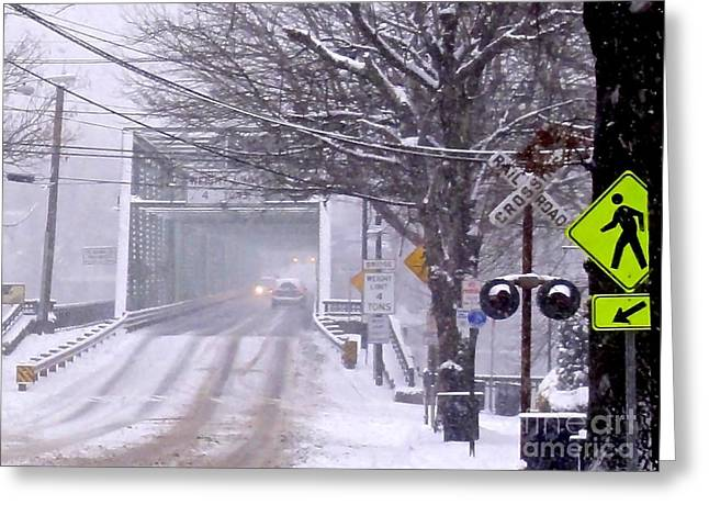Bridge Street To New Hope Greeting Card