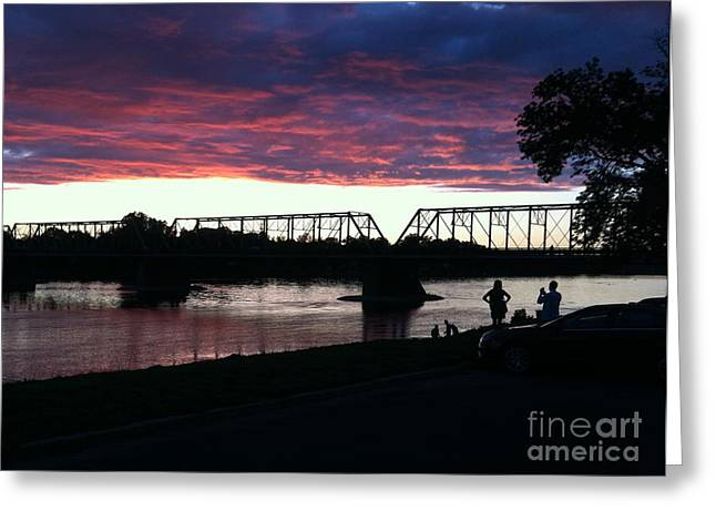 Bridge Sunset In June Greeting Card