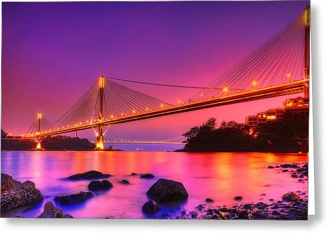 Bridge To Dream Greeting Card by Midori Chan
