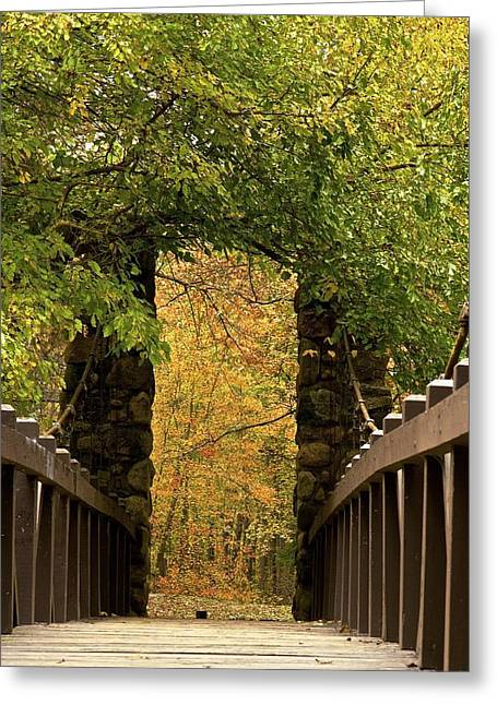 Bridge To Enchantment Greeting Card by Kimberly Davidson