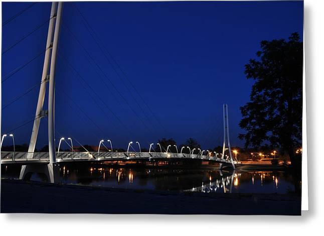 Bridge To Higher Education Greeting Card by Gene Sherrill