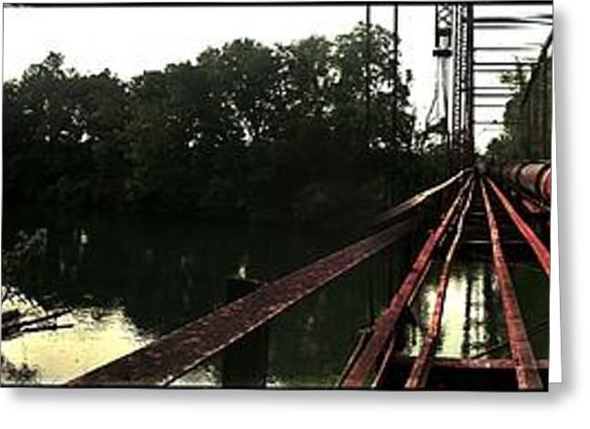 Bridge To La La Land Greeting Card by Erica Springer