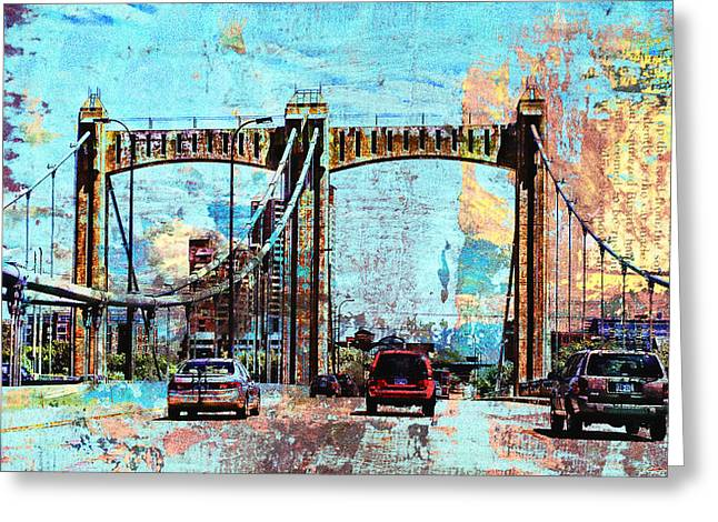 Bridge To Minneapolis Greeting Card