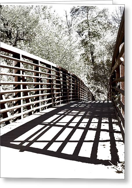 Bridge To Oak Creek Greeting Card