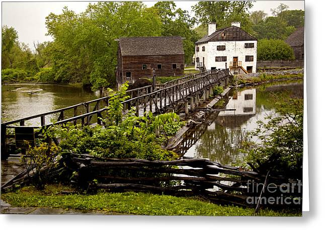 Greeting Card featuring the photograph Bridge To Philipsburg Manor Mill House by Jerry Cowart