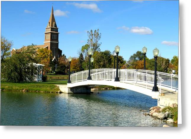 Bridge To Redemption Greeting Card by Mary Willrodt