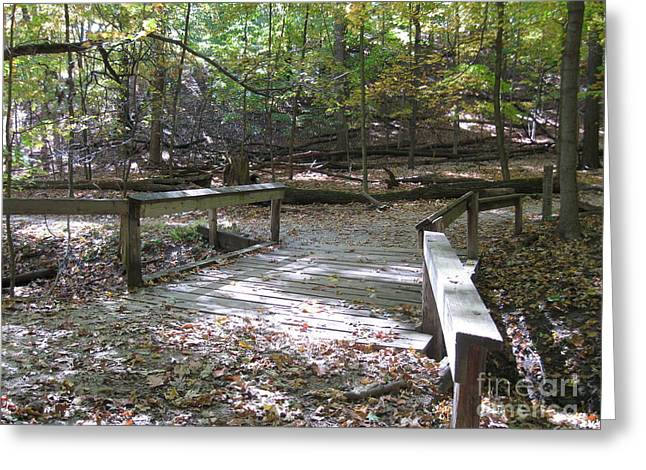 Bridge To The Forest Deep Greeting Card