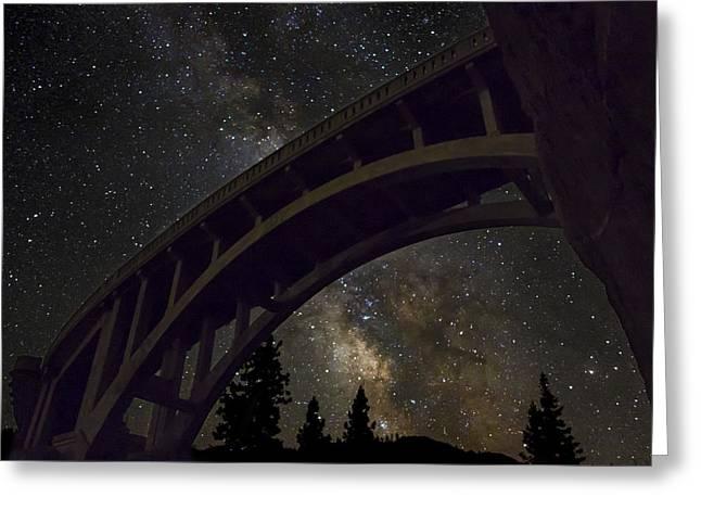 Bridge To The Stars Greeting Card