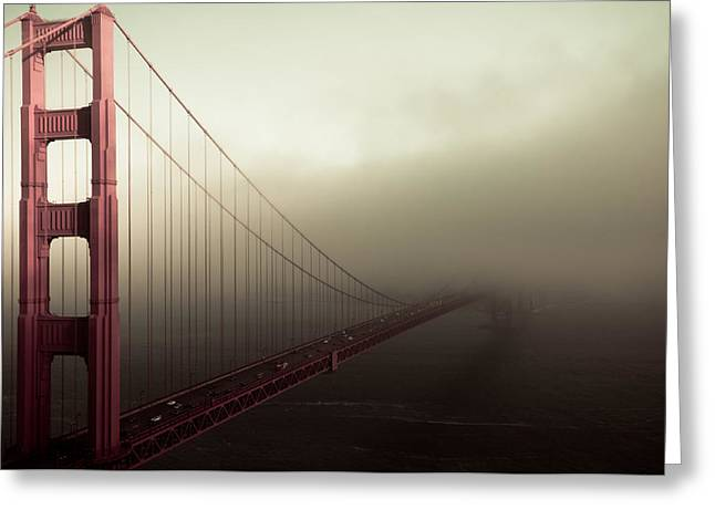 Bridge To The Unknown Greeting Card by Jeffrey Yeung