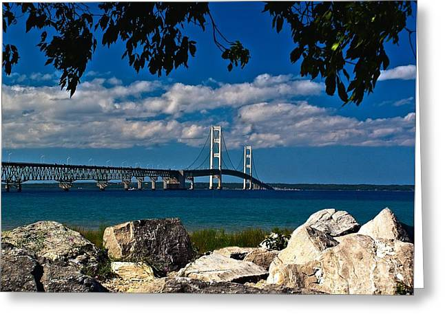 Bridge To The U.p. Greeting Card