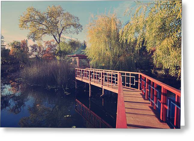 Bridge To Zen Greeting Card by Laurie Search