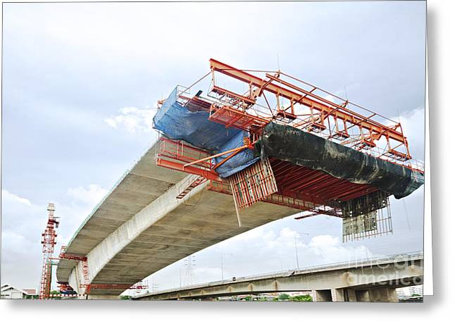 Bridge Under Construction Greeting Card by Colin and Linda McKie