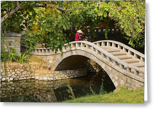 Bridge Walker China Greeting Card
