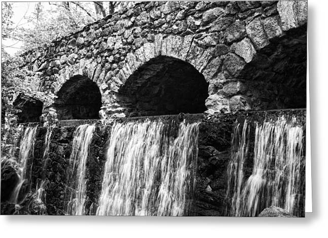 Bridge Water Greeting Card by Kenneth Feliciano