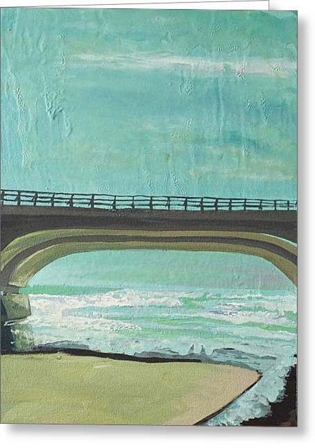Bridge Where Waters Meet Greeting Card by Joseph Demaree