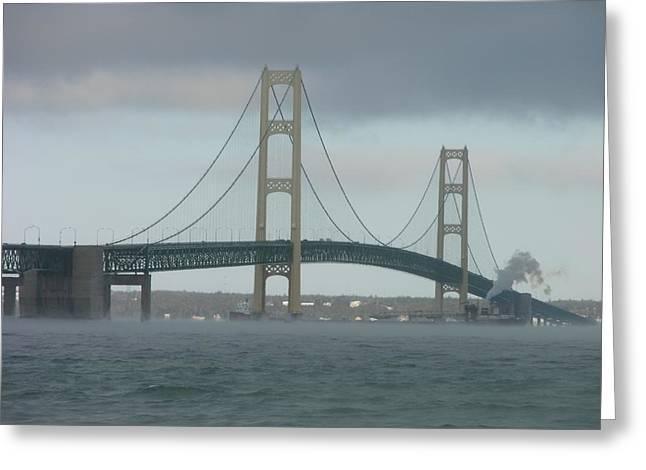 Bridge With Haze Greeting Card
