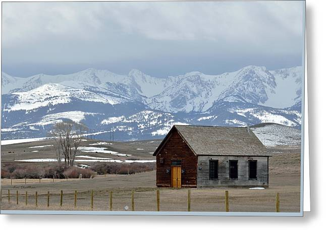 Bridger Background Greeting Card by Kae Cheatham
