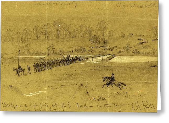 Bridges And Rifle Pits At U.s. Ford, In The Rappahannock Greeting Card