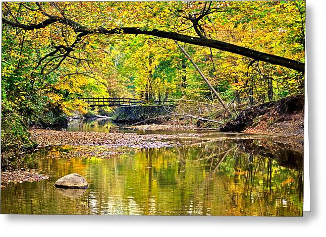 Bridges Current And Future Greeting Card by Frozen in Time Fine Art Photography