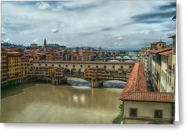 Bridges Of Florence Greeting Card by C H Apperson