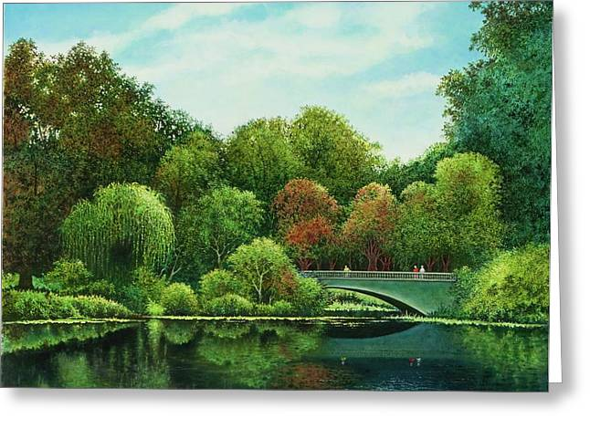 Bridges Of Forest Park Greeting Card