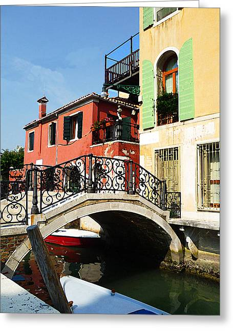 Bridges Of Venice Greeting Card by Irina Sztukowski