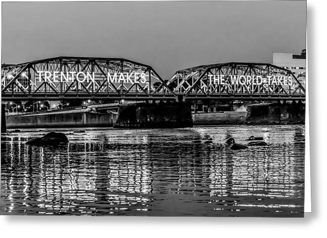 Greeting Card featuring the photograph Trenton Makes Bridge by Louis Dallara