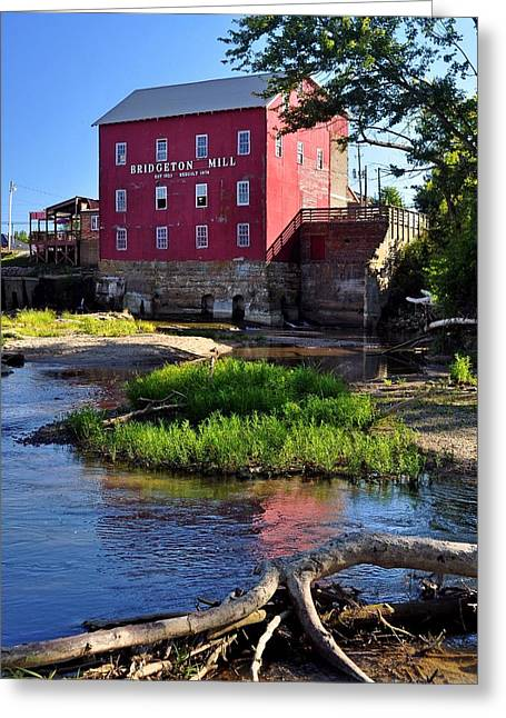 Bridgeton Mill 2 Greeting Card by Marty Koch