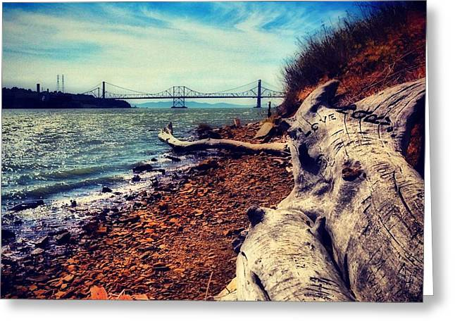 Bridgeview Greeting Card by Brian Maloney