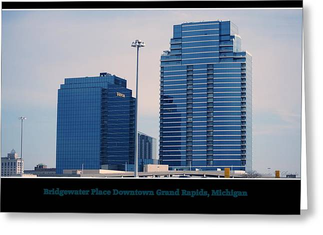 Bridgewater Place Downtown Grand Rapids Michigan Greeting Card by Rosemarie E Seppala