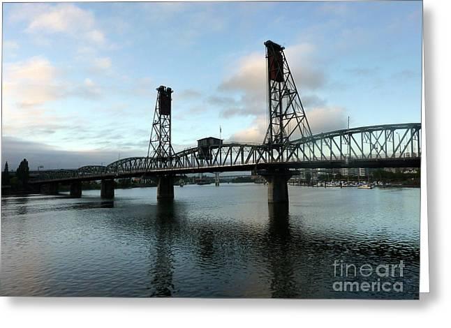 Bridging The River Greeting Card by Susan Garren