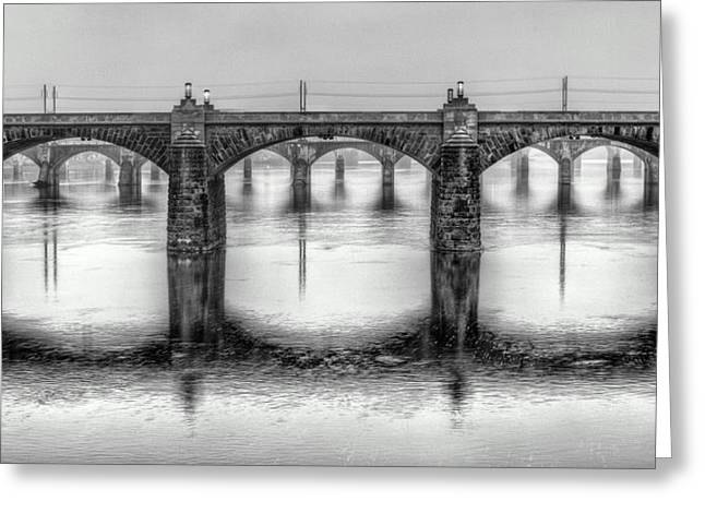 Greeting Card featuring the photograph Bridging The Susquehanna  by JC Findley