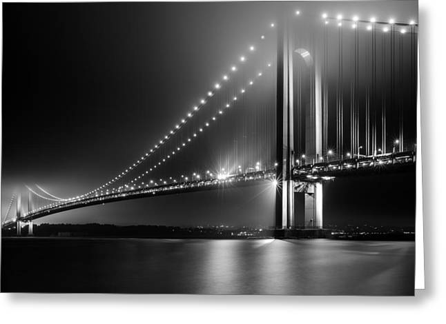 Bridging Verrazano Narrows Greeting Card