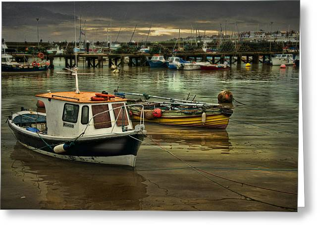 Greeting Card featuring the photograph Bridlington Reflections by Brian Tarr