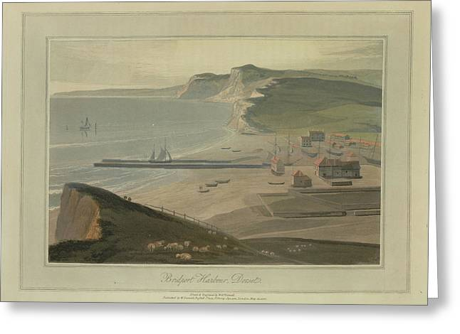 Bridport Harbour Greeting Card by British Library