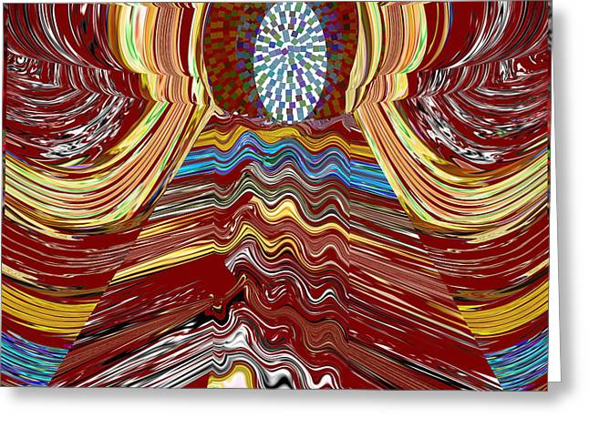 Bridge To Holy Grail Of Mystical Energies Whimisical Abstract By Navinjoshi At Fineartamerica.com  Greeting Card