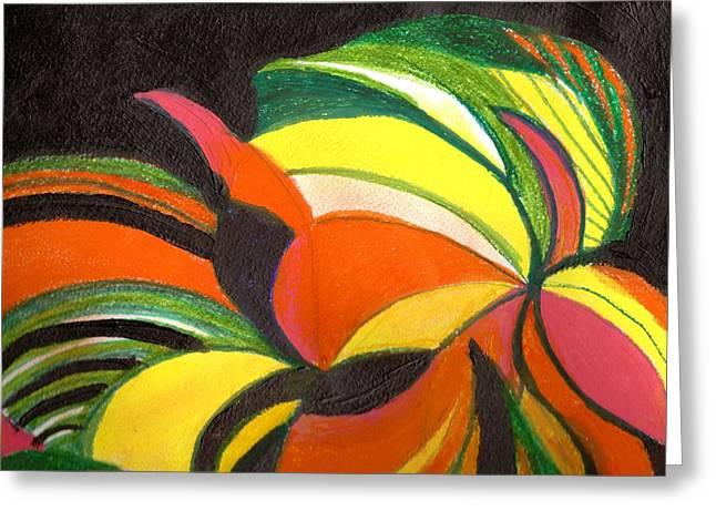 Bright Abstract II Greeting Card by Anne-Elizabeth Whiteway