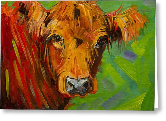 Bright And Beautiful Cow Greeting Card